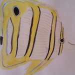 Butterfly fish watercolour