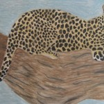 Leopard painting, Zoo week