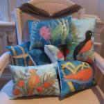 Silk cushions